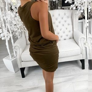 ekattire Dresses - IN THE SUN— in Olive Green